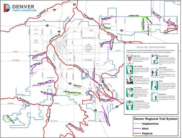 Denver regional trails map