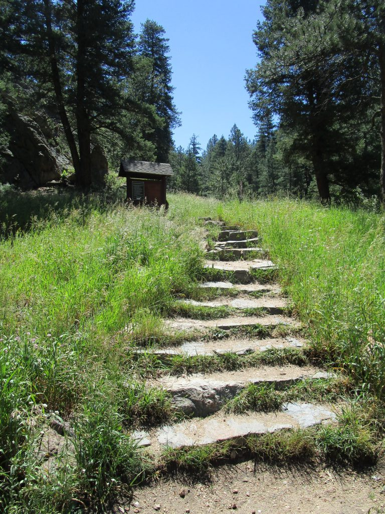 stairs up to panorama point