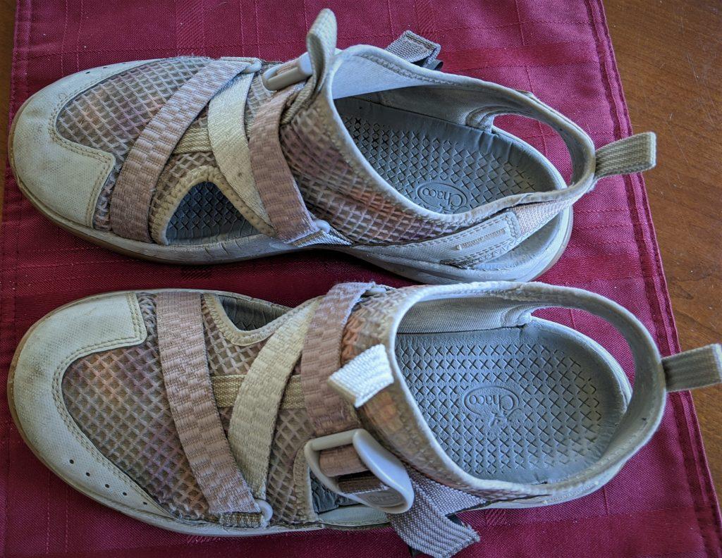 worn chaco