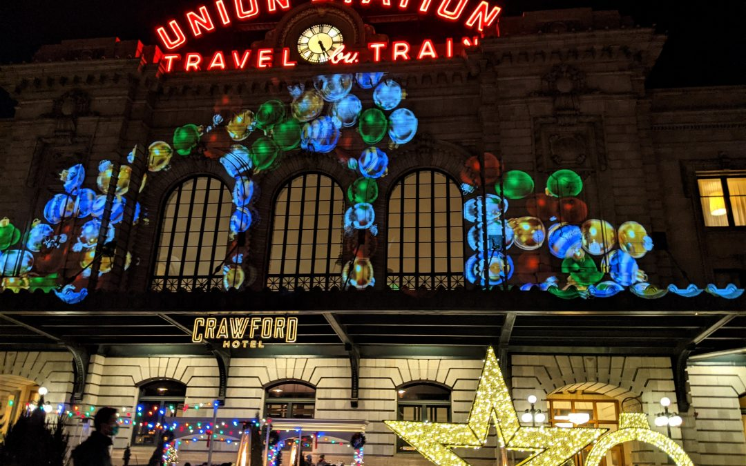 Walking Route of Denver's Downtown Holiday Lights and Floats
