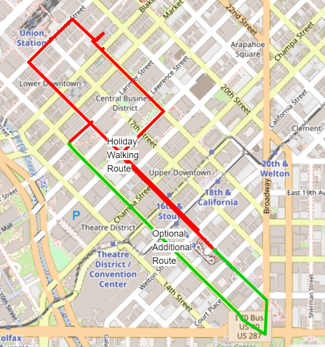 denver walking route